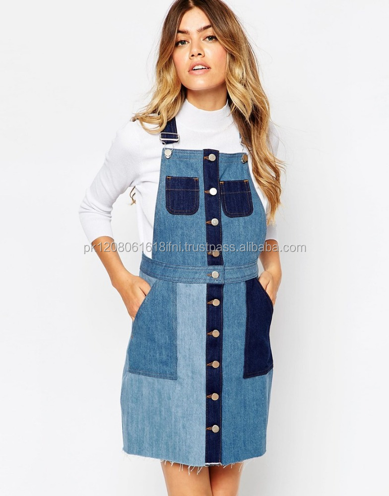 Cut work jeans outfit custom made with white blouse shirt from girls and women