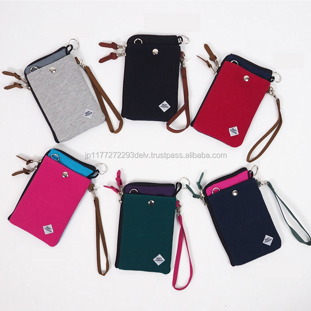 Two way shoulder mobile cases cover for storing cards designed in Japan