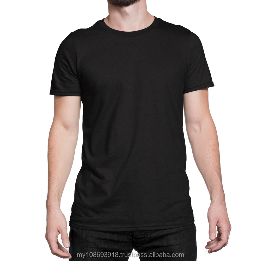 Blank Color Men's Cotton T-Shirt