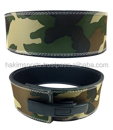 camo printing weight Lifting Power Lever Buckle Belt