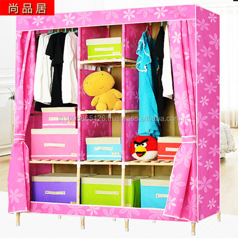 Portable Non Woven Fabric Wardrobe folding fabric wardrobe