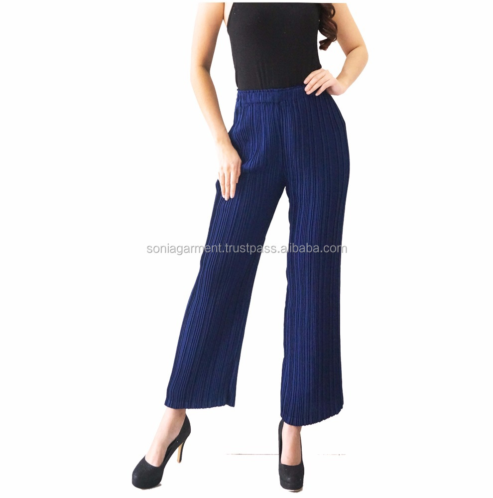 Plisket Cullote Pants long pants for Women fashion designer latest design