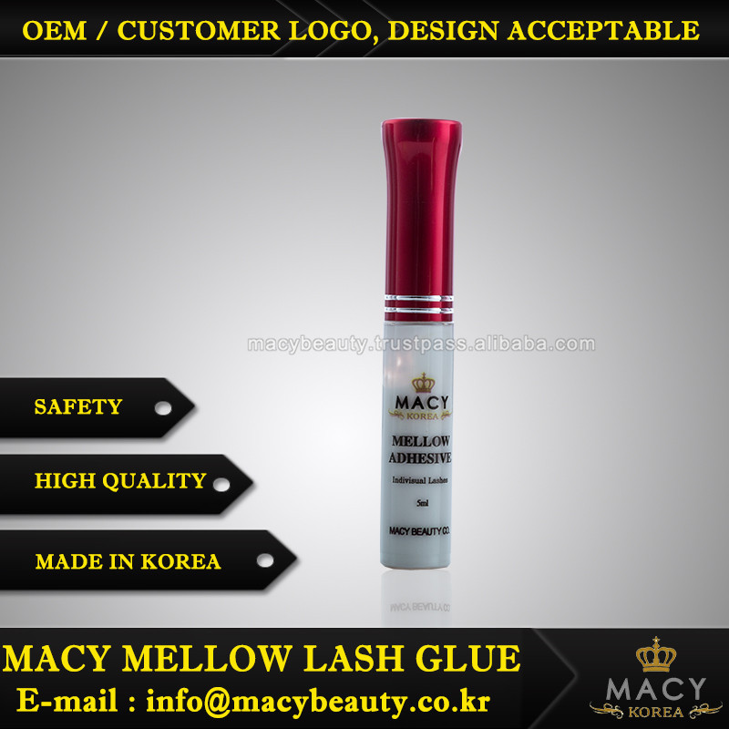 EYELASHES GLUE MACY BEAUTY MELLOW LASH GLUE RED CAP False Eyelashes Glue