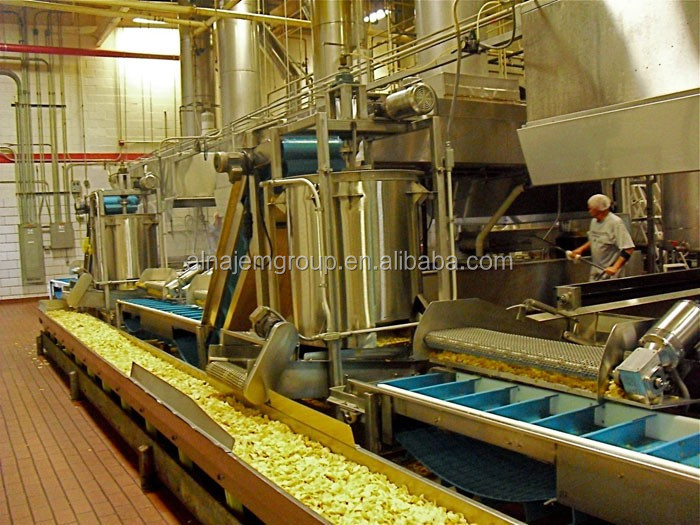 French fries production line/food production line/potato french fries making machine