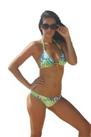 WOMEN Swimwear 2PC BIKINI SET - Nadia(Gold Forest)