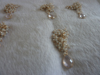 Double strand pearl rosary chain and morganite necklace
