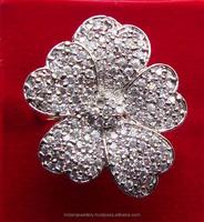 Artificial Diamond Ringm Cz Jewelry Manufacturer