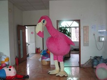 Flamingo Plush Fur Mascot Costume Party Costumes Cosplay Costume