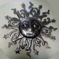 Large Sun Face Wall Decor Wall Metal Art Haiti Products Haitian Crafts Haitian Metal Art Haitian Products Online