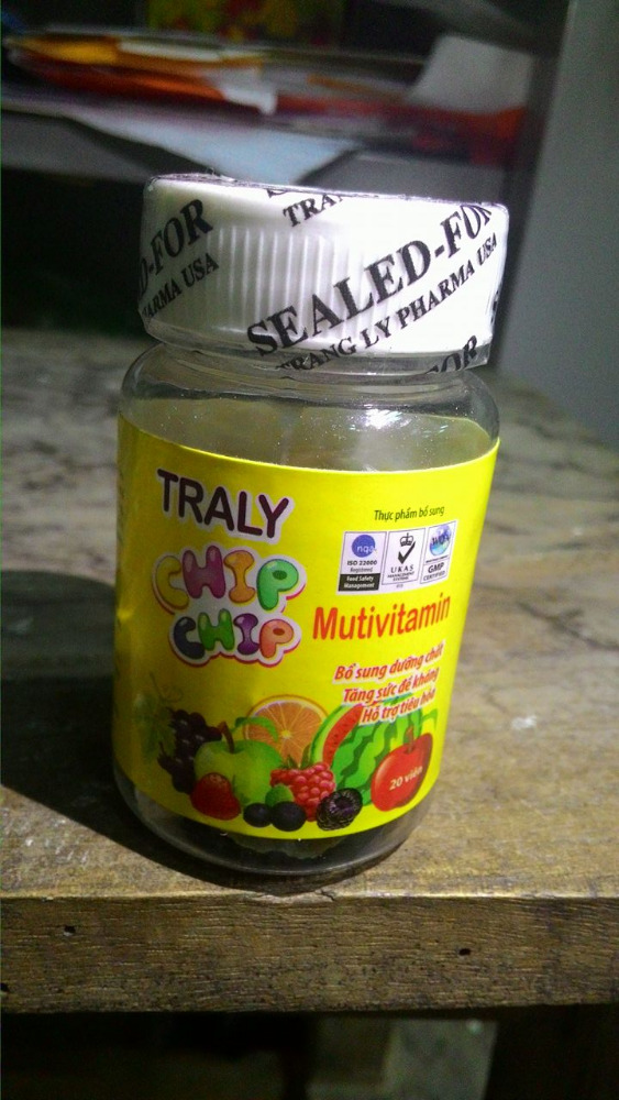TRALY CHIP CHIP MULTIVITAMIN - To Enhancing body's resistance-