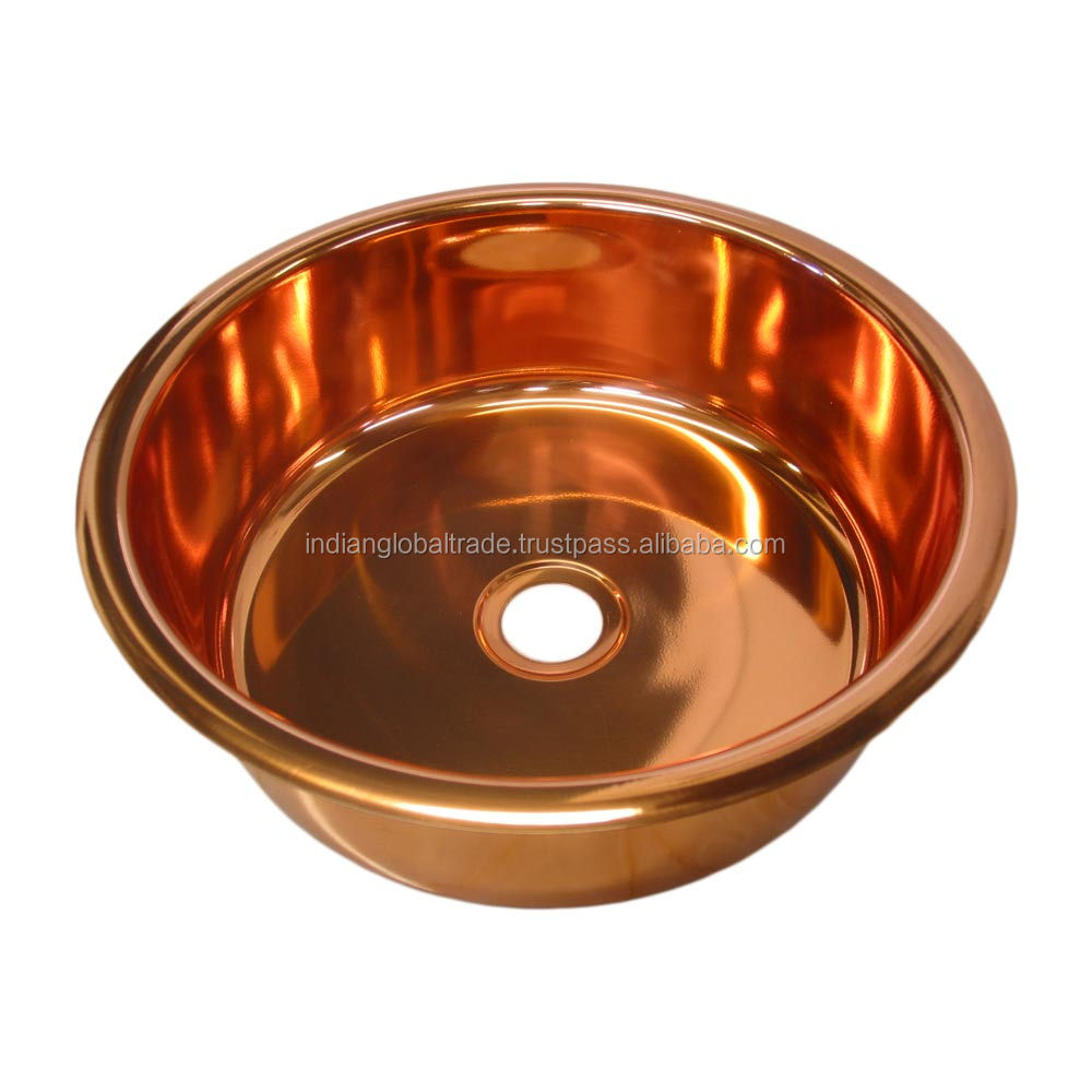Pure Copper Bar Sink | Copper Sink from India | Handmade Copper Sink