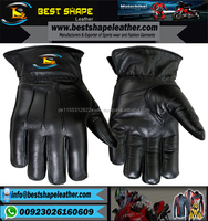 REAL LAMBSKIN LEATHER DRIVING FASHION DRESS GLOVES SOFT & TOP QUALITY BLACK