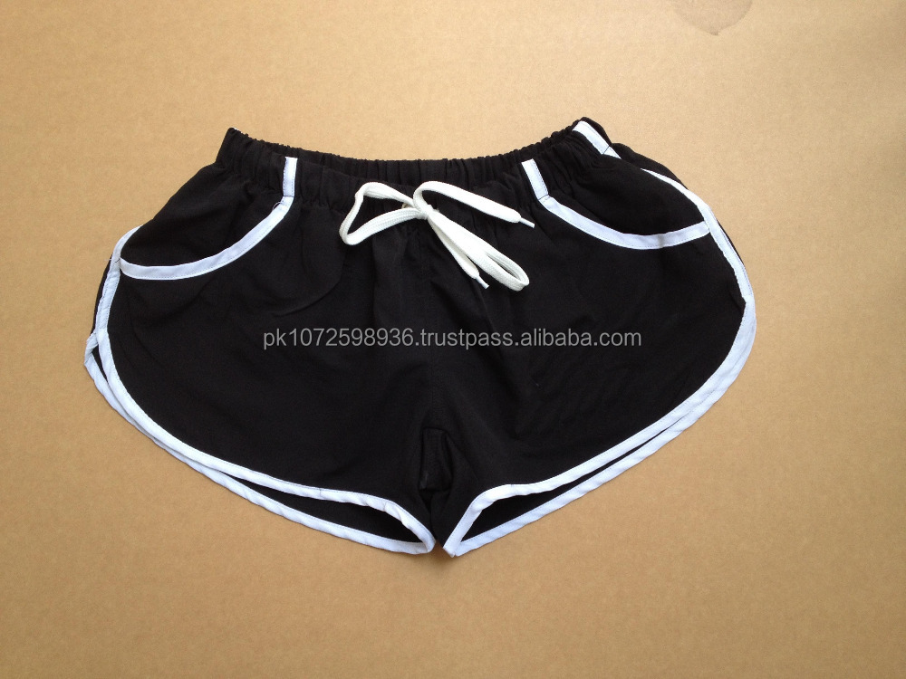 100% polyester gym shorts/fitted sports drawstring waist polyester running blank slim fit gym workout shorts