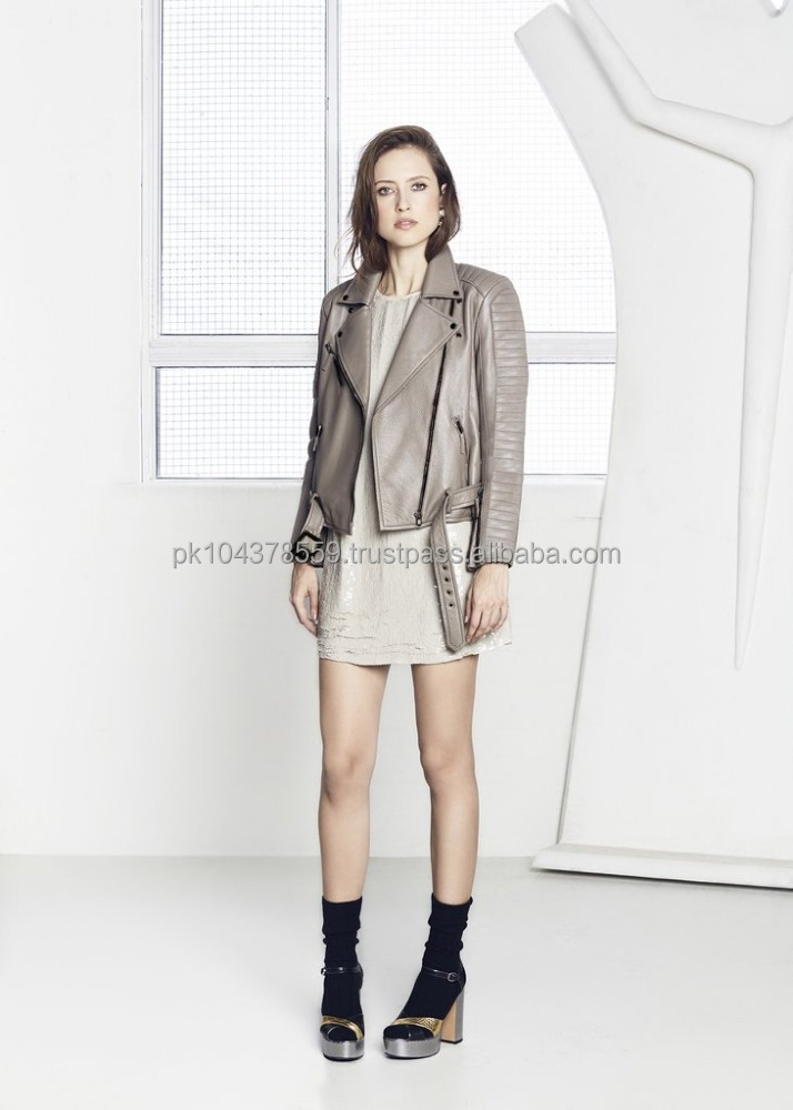 New Style Ladies Slim Fashion Leather Jacket Outwear For Women In Pakistan