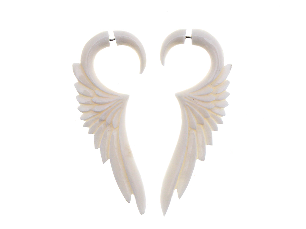 Dream Wings Fake gauges piercing Hand made