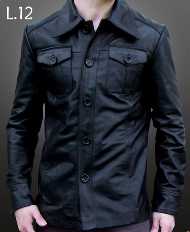 2017 Indonesia Supplier Wholesale Latest Design Men Genuine Leather Jacket L 12