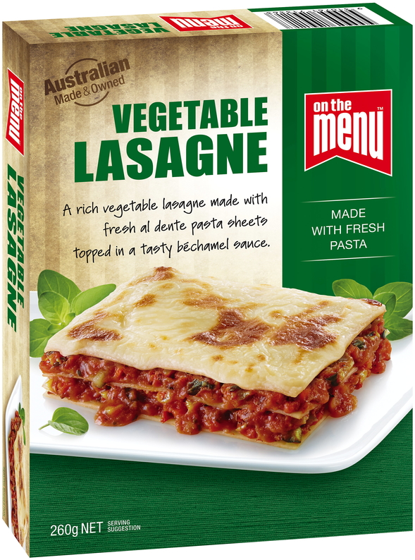 On The Menu Vegetable Lasagne 260g