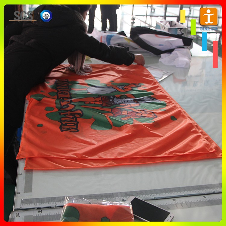 CMYK full color custom dye sublimation fraternity flag