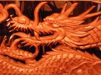 Japanese wine cooler decorated with traditional wooden dragon shaped-sculpture looking for distributor in Malaysia wine bag