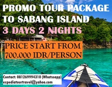 Tour Package to Sabang Island / Banda Aceh