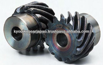 Haardened helical gear Module 1.5 Carbon steel Made in Japan KG STOCK GEARS