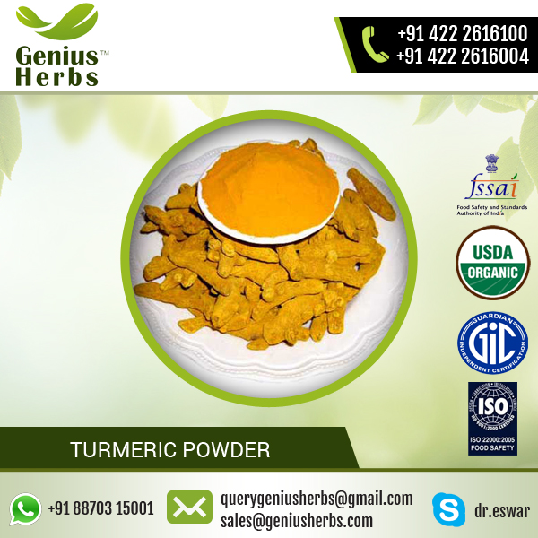 High Quality 100% Natural Water Soluble Turmeric Powder from Authentic Exporter