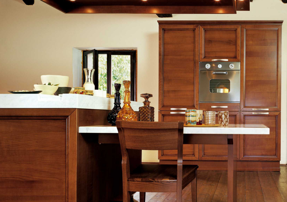 Cherry solid wood kitchen cabinet modern kitchen cabinet for Solid wood modern kitchen cabinets