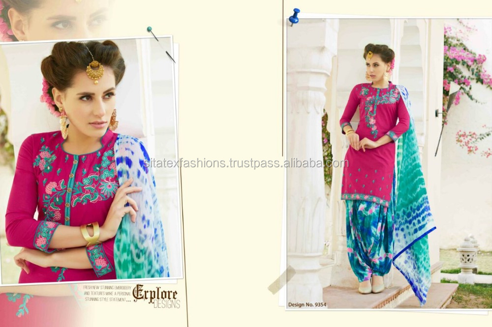 new style wedding dress suits for women/latest patiala suits/neck designs for salwar suits