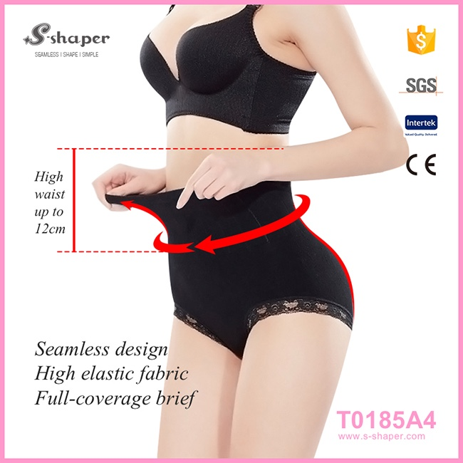 Sexy Mature Underwear High Quality Panty Ladies Seamless High Waist Lace Briefs