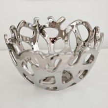 Modern Aluminium Serving Bowl, Silver Plated Serving Bowl, Indian Serving Bowl