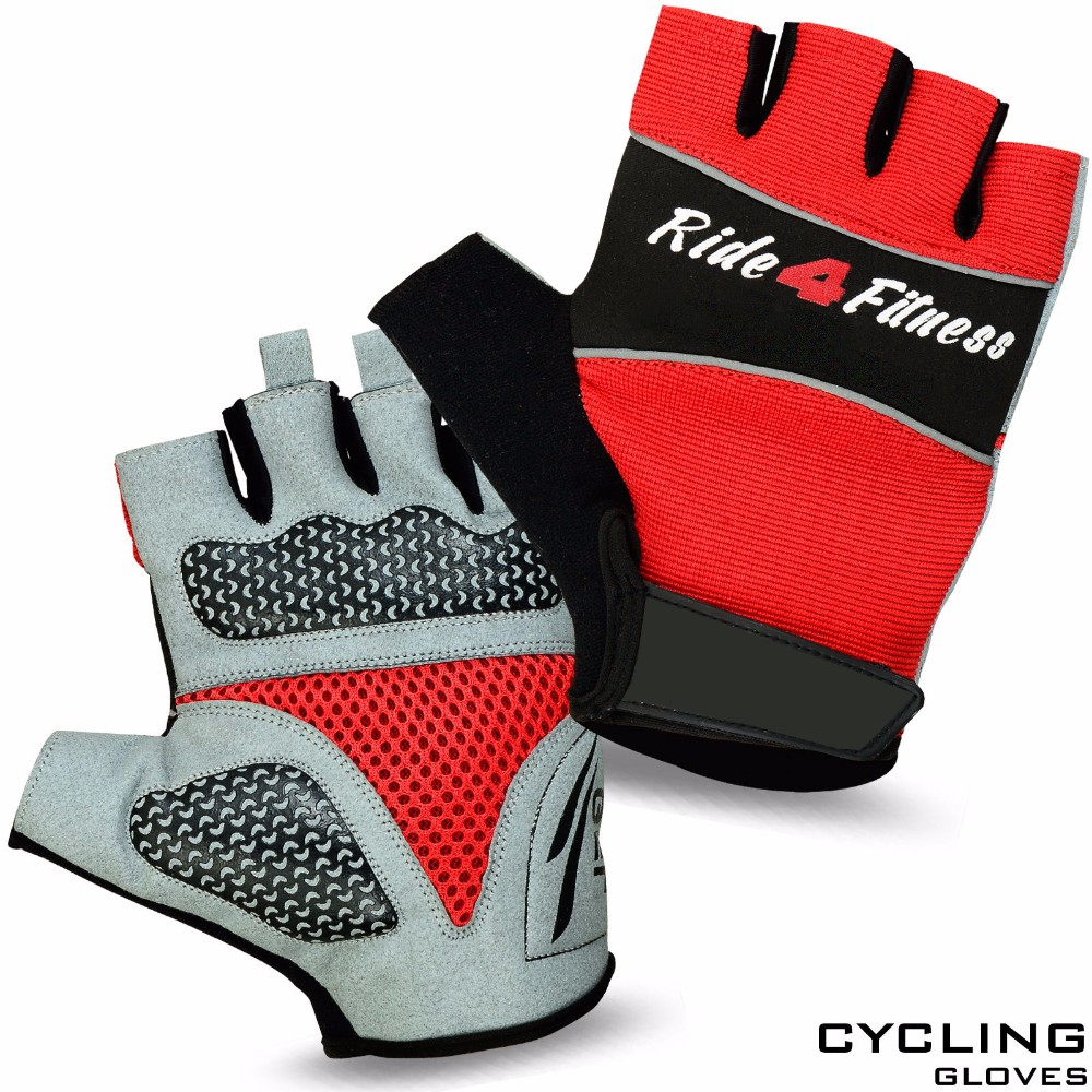 Men Cycling Gloves Finger less Half Finger Bike Bicycle Sports Gel Padded Kolumbus Racing Cycling Gloves Black Red Blue