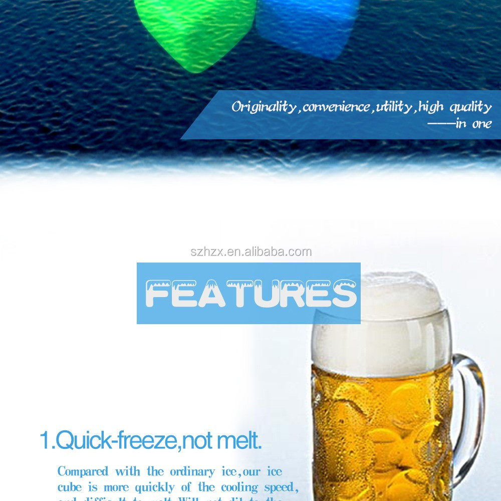 Reusable Plastic Ice Cubes/ Transparent Plastic Fake Ice Cubes