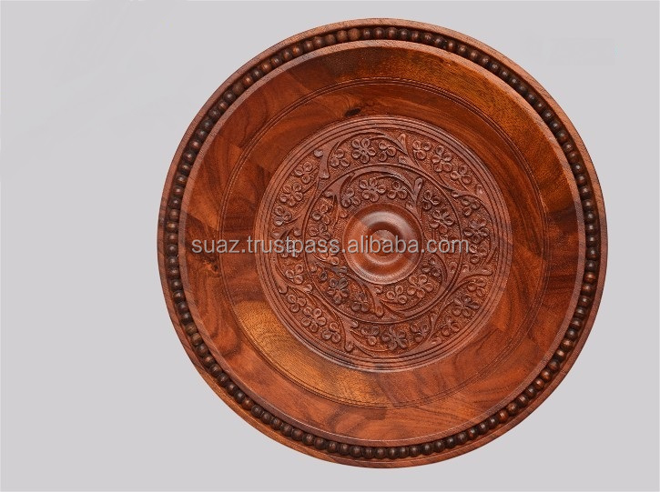 Wooden Plates with engraving , Wooden Handicraft Decoration Plates , Wood Name Plates Wholesale , Round Wood Plates
