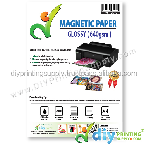 Magnetic Paper 640gsm (Glossy) (A4)