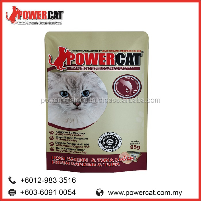 Bulk Dry & Wet Canned Cat Food Fresh Sardine and Tuna Flavor