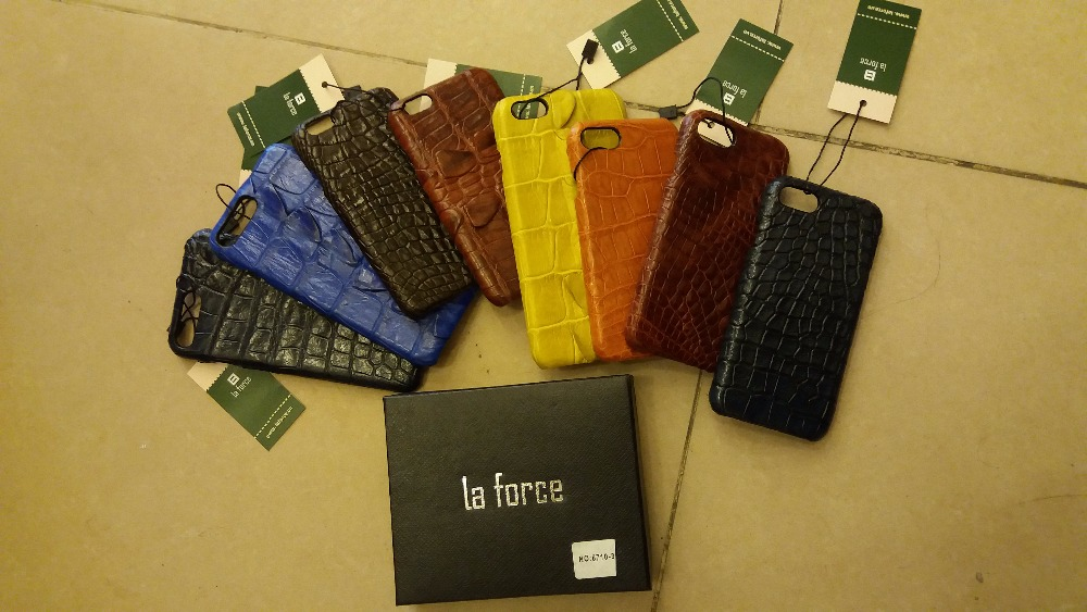 La Force cover for iPhone 5.5 inch genuine crocodile leather phone case
