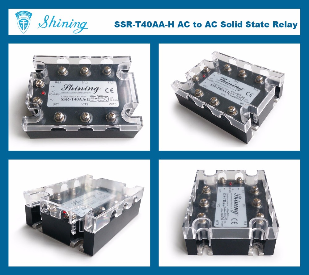 SSR-T40AA-H CE Zero Crossing Solid State Relay 3 Phase 40 Amp SSR