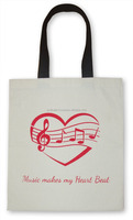 TMusic Kids Tote Bag for Piano Violin & other Instruments Sheet Music 100% Cotton Canvas Tote Bag with Musical Notes Design kids