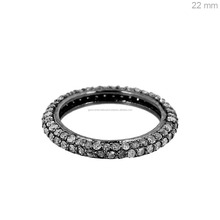 925 Sterling Silver Jewelry Wholesale Pave Diamond Eternity Band Ring