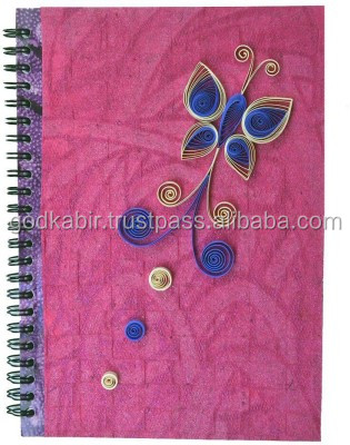 Antique art paper and indian design printed handmade are paper notebook