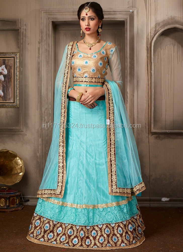 Heavy Embroidery Work Lehenga Choli - Pakistani lehenga choli sharara - Wholesale lehenga choli online supplier