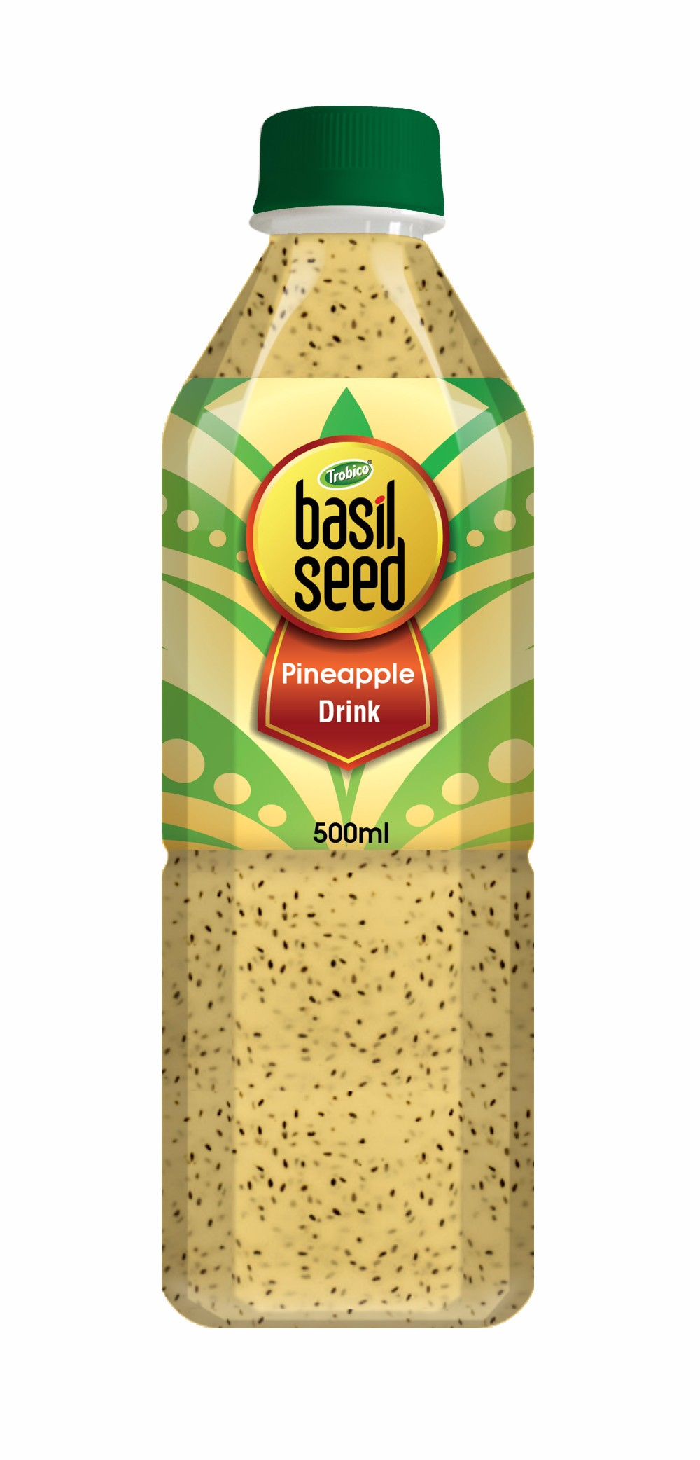 500ml PET Bottle Private Label Basil Seed with Fruit Juice Drink from Vietnam-VietNam Manufacturer-OEM Fruit Juice-From Trobico