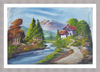 beautiful scenery wall painting / natural scenery wall picture