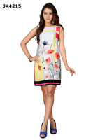 Fashionable Women's Fully Stitched Digital Printed Short Kurti / White And Red Colour Party Wear Kurti