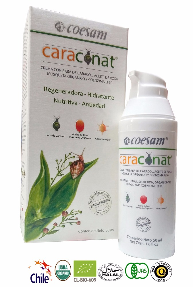 Caraconat Cream with Snail Saliva, Organic Rosehip Oil and Coenzyme Q -10