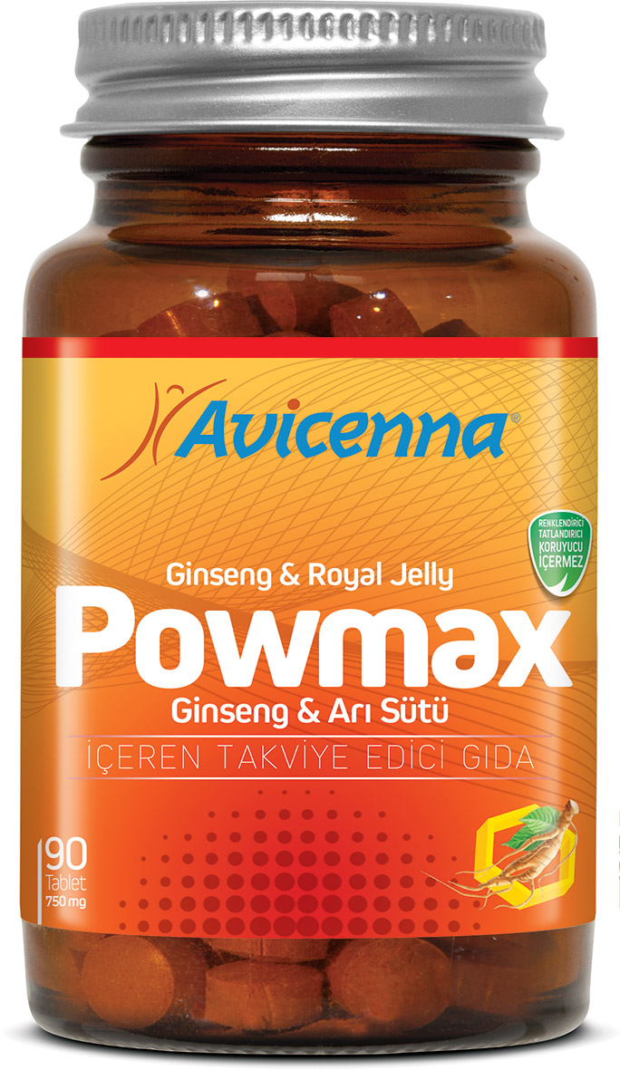 Ayurvedic medicine for sex POWMAX Herbal Tablet with Ginseng Royal Jelly Pollen Vitamin Supplements ...