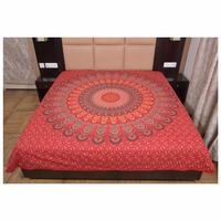 Indian Latest Printed Round Red Colour