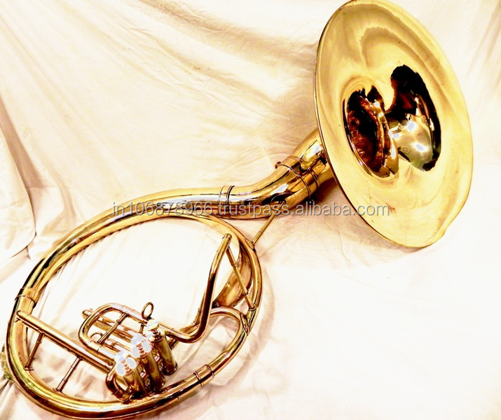 BRASS FINISH BRASS Bb SOUSAPHONE BIG TUBA FOR SALE 22""
