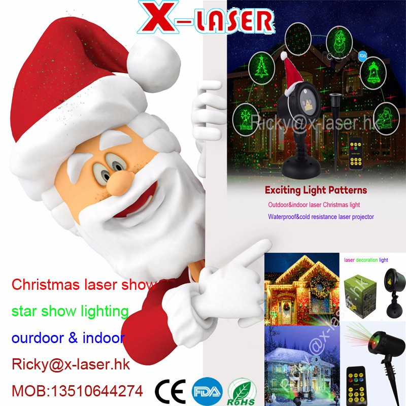 cheap outdoor christmas laser lights waterproof IP65 green red color star effect laser