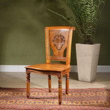 Hand Carving Design Wooden Dinning Chair